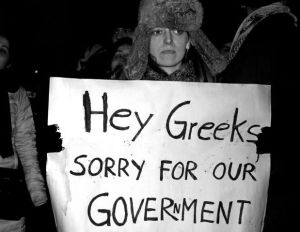 Occupy Berlin - Solidarität mit Griechenland! Spontandemo vor der griechischen Botschaft am 13.2.12