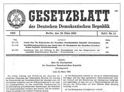 Gesetzblatt DDR 1982