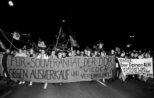 Demo gegen Wiedervereinigung