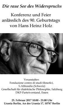 Hans Heinz Holz Konferenz 2017